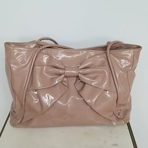 Nude Patent Valentino Betty Lacca Bow Spring